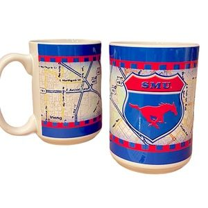 Vintage 90's SMU College Coffee Mug Set of 2